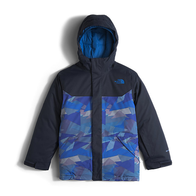 Discount NORTH FACE BOYS' BRAYDEN INSULATED JACKET JAKE BLUE GEO CAMO ONLINE