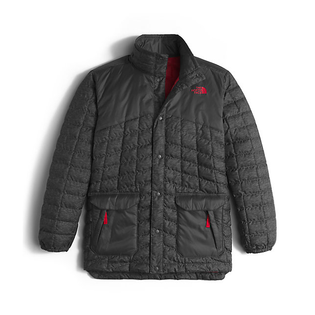 Discount NORTH FACE BOYS\' HAYDEN THERMOBALL JACKET GRAPHITE GREY PIXELATED HEATHER ONLINE