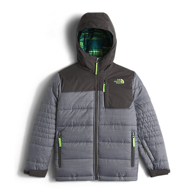 Discount NORTH FACE BOYS' CALEB INSULATED JACKET GRAPHITE GREY HEATHER ONLINE