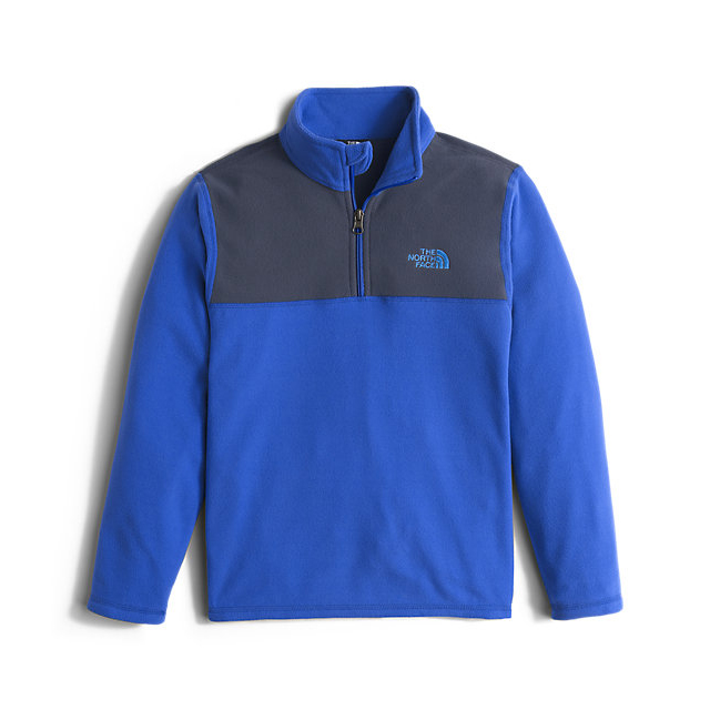 Discount NORTH FACE BOYS\' GLACIER 1/4 ZIP HONOR BLUE ONLINE