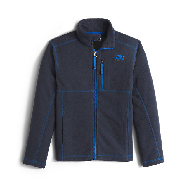Discount NORTH FACE BOYS' CAP ROCK FULL ZIP COSMIC BLUE HEATHER ONLINE