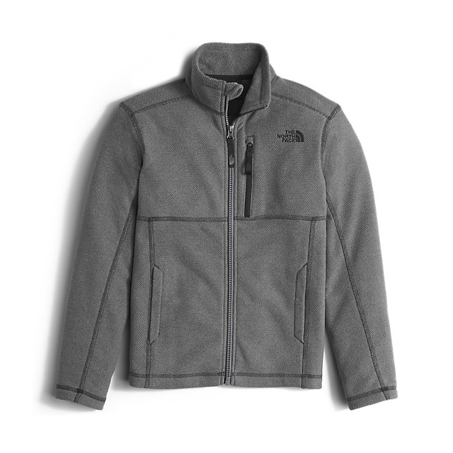 Discount NORTH FACE BOYS\' CAP ROCK FULL ZIP GRAPHITE GREY HEATHER ONLINE