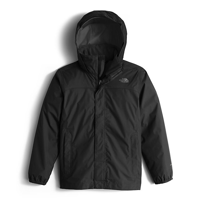 Discount NORTH FACE BOYS' RESOLVE REFLECTIVE JACKET BLACK ONLINE
