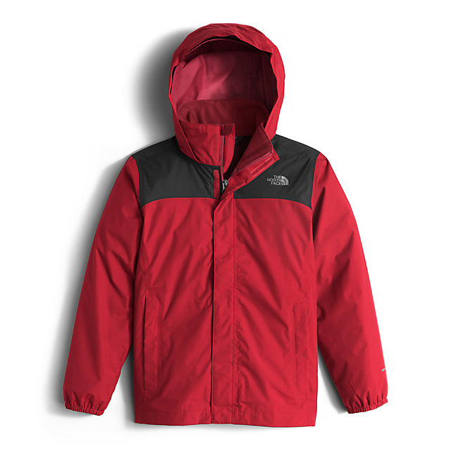 Discount NORTH FACE BOYS' RESOLVE REFLECTIVE JACKET RED ONLINE