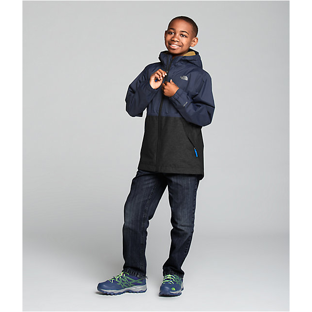 Discount NORTH FACE BOYS\' WARM STORM JACKET COSMIC BLUE ONLINE