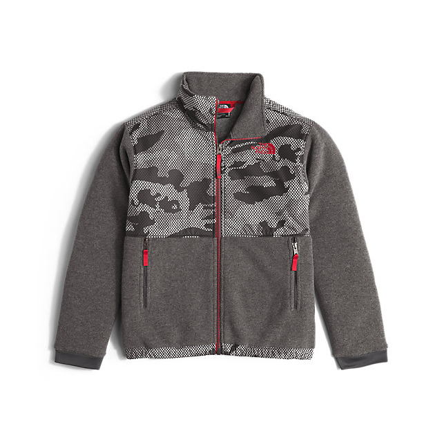Discount NORTH FACE BOYS' DENALI JACKET GRAPHITE GREY MESH CAMO ONLINE