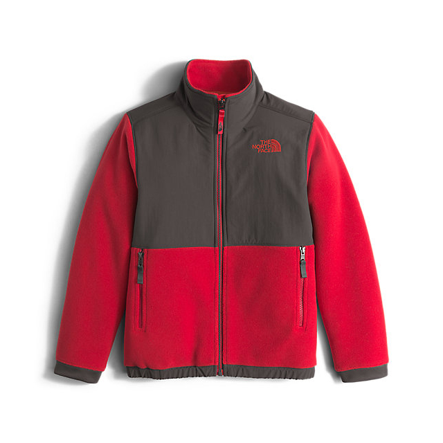 Discount NORTH FACE BOYS\' DENALI JACKET GRAPHITE GREY / RED ONLINE