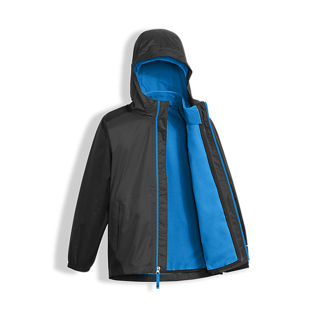 Discount NORTH FACE BOYS\' STORMY RAIN TRICLIMATE GRAPHITE GREY ONLINE