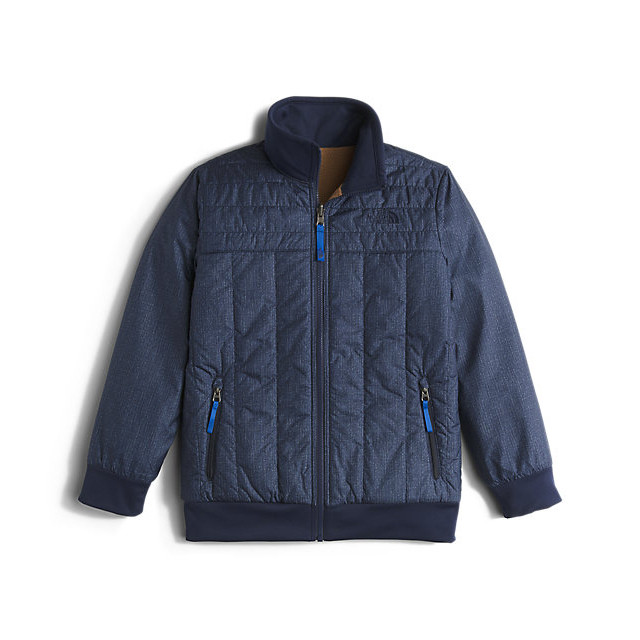 Discount NORTH FACE BOYS' REVERSIBLE YUKON JACKET COSMIC BLUE DENIM PRINT ONLINE