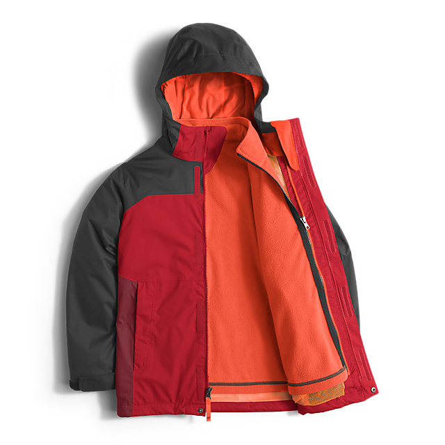 Discount NORTH FACE BOYS\' VORTEX TRICLIMATE JACKET RED ONLINE