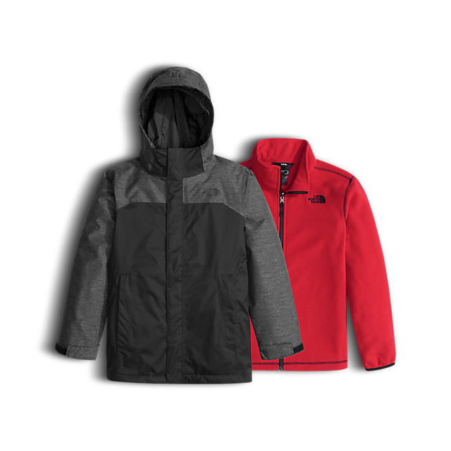 Discount NORTH FACE BOYS' VORTEX TRICLIMATE JACKET BLACK ONLINE