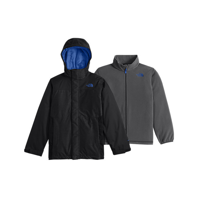 Discount NORTH FACE BOYS' VORTEX TRICLIMATE JACKET BLACK / JAKE BLUE ONLINE