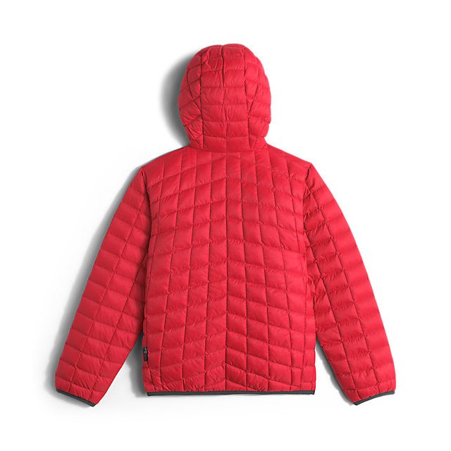 Discount NORTH FACE BOYS\' REVERSIBLE THERMOBALL HOODIE RED ONLINE