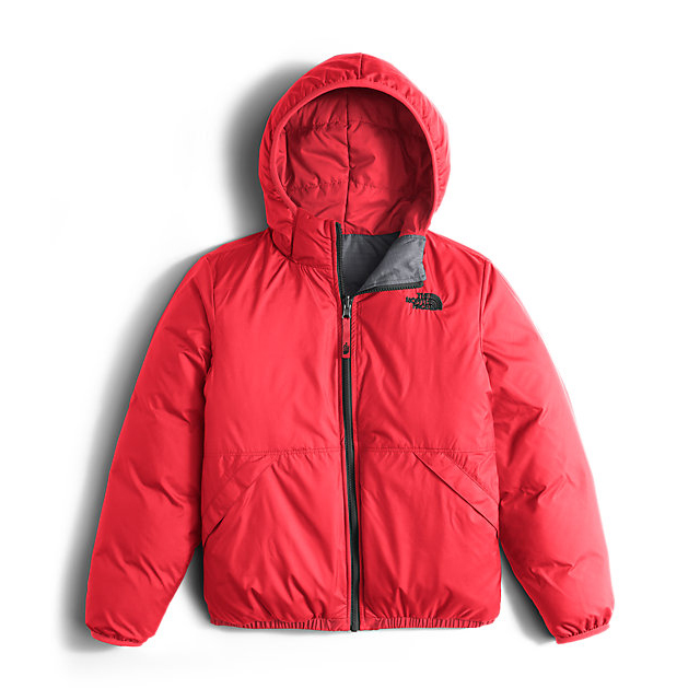 Discount NORTH FACE BOYS\' REVERSIBLE MOONDOGGY DOWN JACKET RED ONLINE
