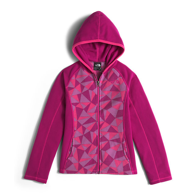 Discount NORTH FACE GIRLS\' GLACIER FULL ZIP HOODIE ROXBURY PINK TRIANGLE CAMO ONLINE