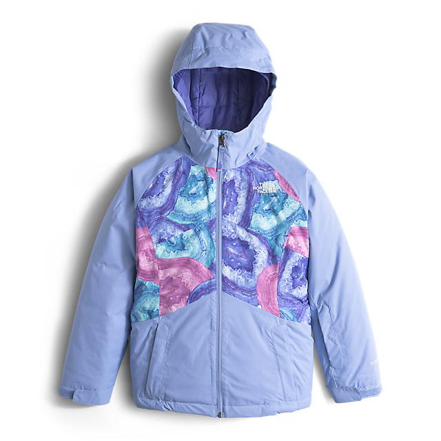 Discount NORTH FACE GIRLS\' BRIANNA INSULATED JACKET GRAPEMIST BLUE CRYSTAL PRINT ONLINE