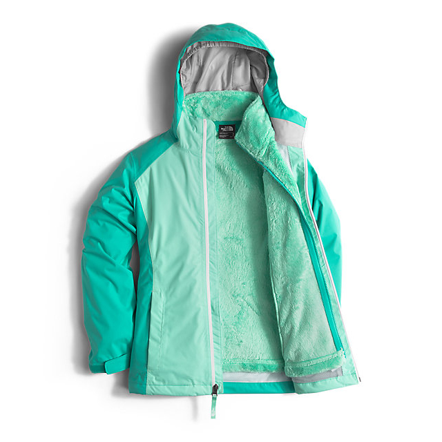 Discount NORTH FACE GIRLS\' OSOLITA TRICLIMATE JACKET ICE GREEN ONLINE
