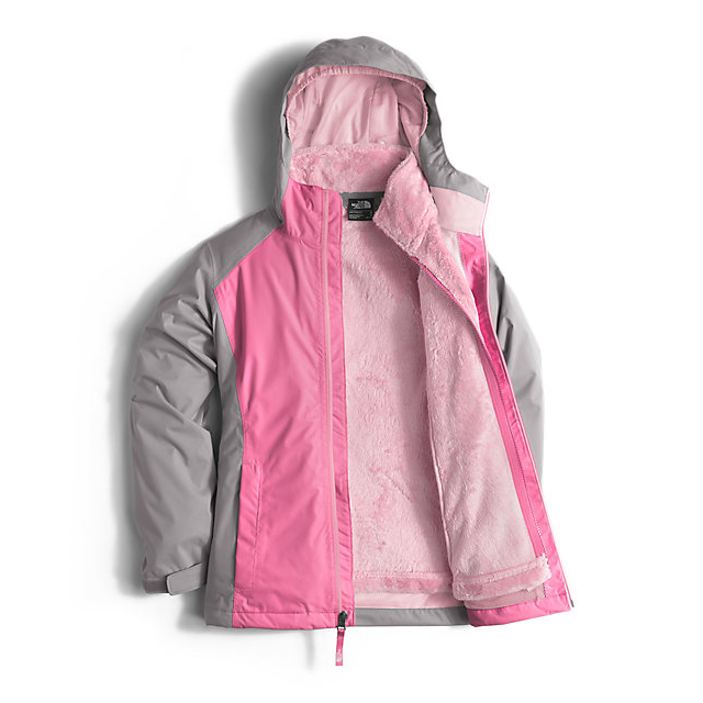 Discount NORTH FACE GIRLS\' OSOLITA TRICLIMATE JACKET CHA CHA PINK ONLINE