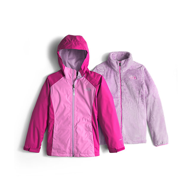 Discount NORTH FACE GIRLS\' OSOLITA TRICLIMATE JACKET WISTERIA PURPLE ONLINE
