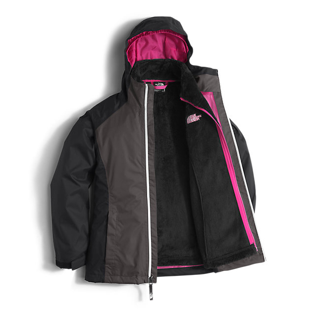 Discount NORTH FACE GIRLS\' OSOLITA TRICLIMATE JACKET GRAPHITE GREY ONLINE