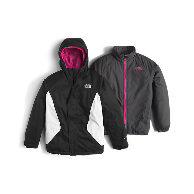 Discount NORTH FACE GIRLS\' KIRA TRICLIMATE JACKET BLACK ONLINE