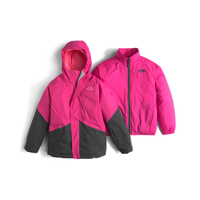 Discount NORTH FACE GIRLS\' KIRA TRICLIMATE JACKET CABARET PINK ONLINE