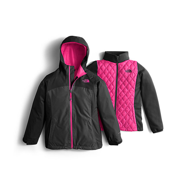 Discount NORTH FACE GIRLS' THERMOBALL TRICLIMATE JACKET BLACK HEATHER ONLINE