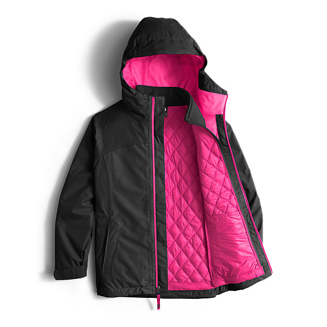 Discount NORTH FACE GIRLS\' THERMOBALL TRICLIMATE JACKET BLACK HEATHER ONLINE