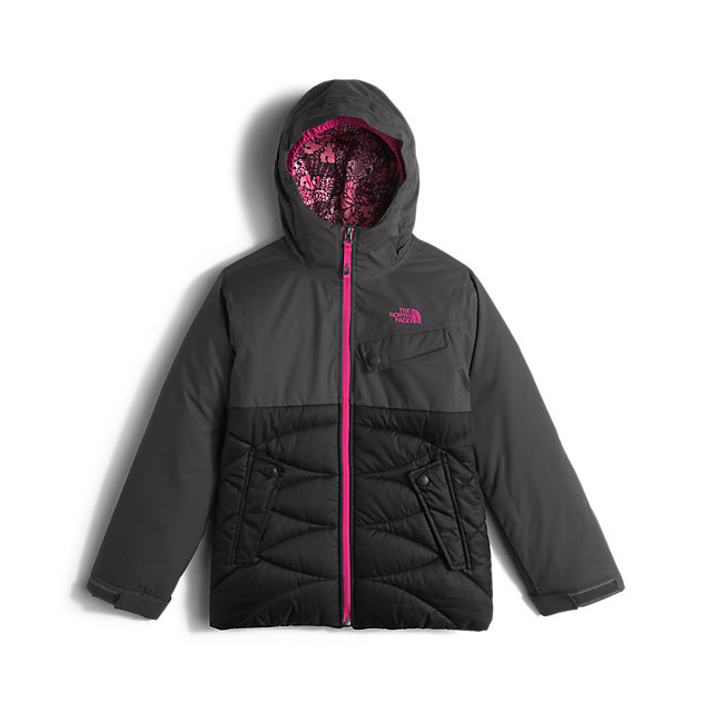Discount NORTH FACE GIRLS\' CARLY INSULATED JACKET GRAPHITE GREY ONLINE