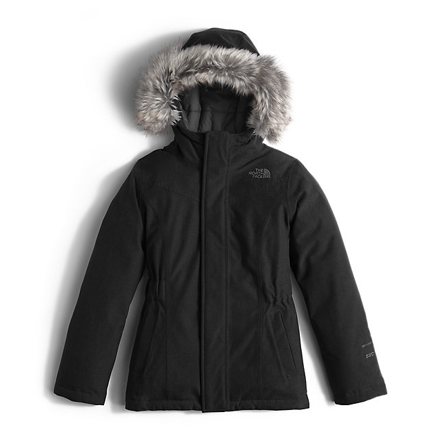 Discount NORTH FACE GIRLS\' GREENLAND DOWN PARKA BLACK / GRAPHITE GREY ONLINE