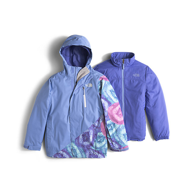 Discount NORTH FACE GIRLS' ABBEY TRICLIMATE JACKET GRAPEMIST BLUE ONLINE