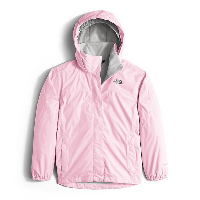 Discount NORTH FACE GIRLS\' RESOLVE REFLECTIVE JACKET COY PINK ONLINE