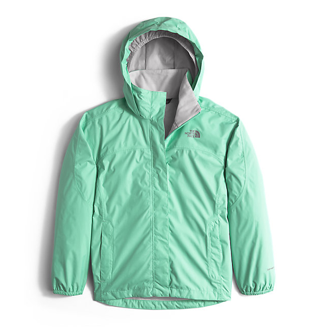 Discount NORTH FACE GIRLS\' RESOLVE REFLECTIVE JACKET ICE GREEN ONLINE