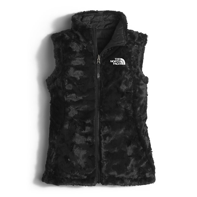 Discount NORTH FACE GIRLS\' REVERSIBLE MOSSBUD SWIRL VEST BLACK ONLINE