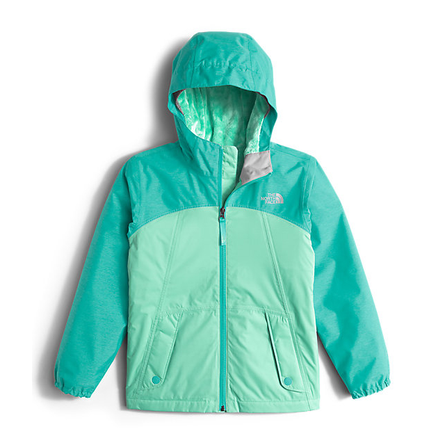 Discount NORTH FACE GIRLS\' WARM STORM JACKET ICE GREEN ONLINE