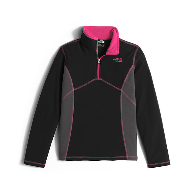 Discount NORTH FACE GIRLS\' GLACIER 1/4 ZIP BLACK ONLINE