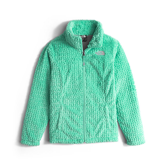 Discount NORTH FACE GIRLS' LAUREL FLEECE FULL ZIP ICE GREEN ONLINE