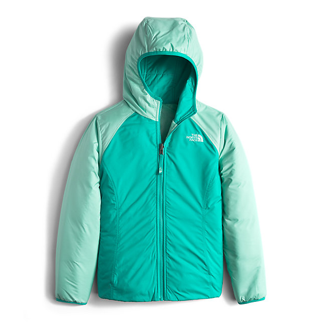 Discount NORTH FACE GIRLS\' REVERSIBLE PERSEUS JACKET ICE GREEN ONLINE