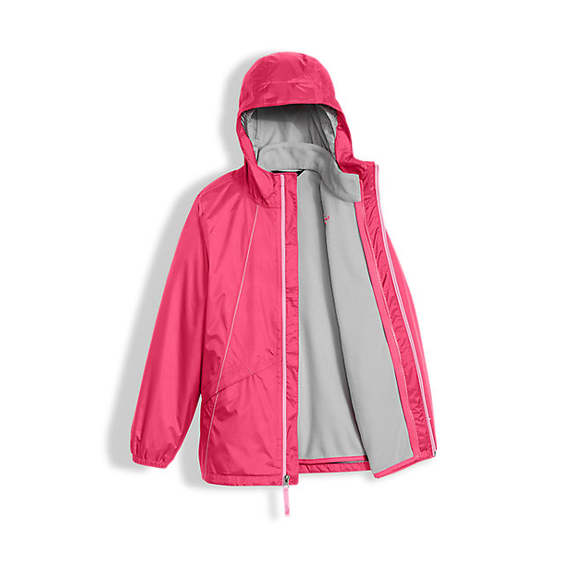 Discount NORTH FACE GIRLS\' STORMY RAIN TRICLIMATE HONEYSUCKLE PINK ONLINE