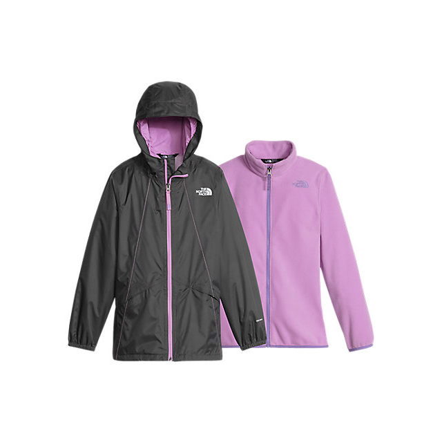 Discount NORTH FACE GIRLS\' STORMY RAIN TRICLIMATE GRAPHITE GREY ONLINE