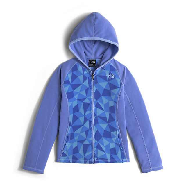 Discount NORTH FACE GIRLS\' GLACIER FULL ZIP HOODIE GRAPEMIST BLUE TRIANGLE CAMO ONLINE