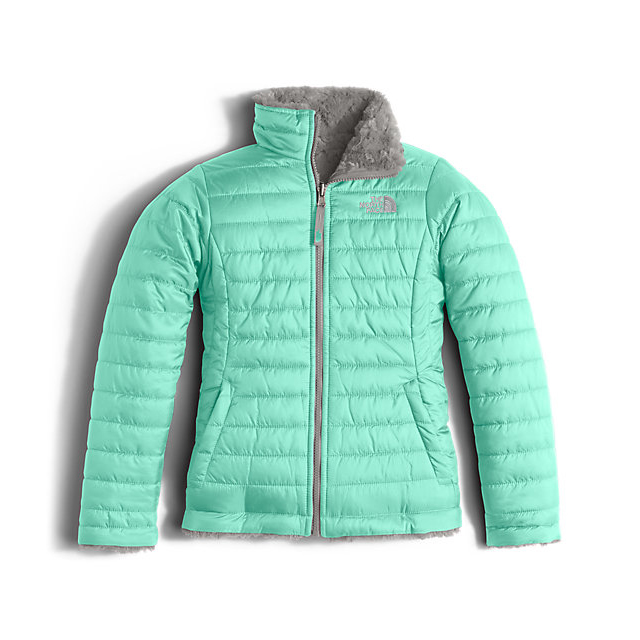 Discount NORTH FACE GIRLS\' REVERSIBLE MOSSBUD SWIRL JACKET ICE GREEN ONLINE