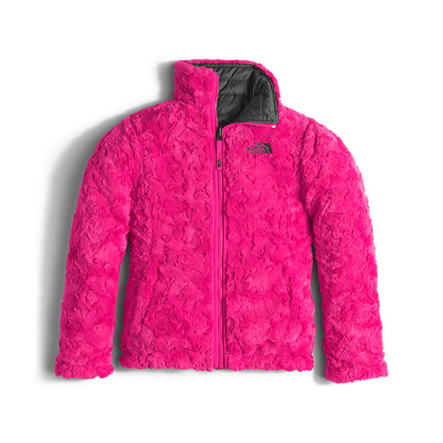 Discount NORTH FACE GIRLS\' REVERSIBLE MOSSBUD SWIRL JACKET GRAPHITE GREY/CABARET PINK ONLINE