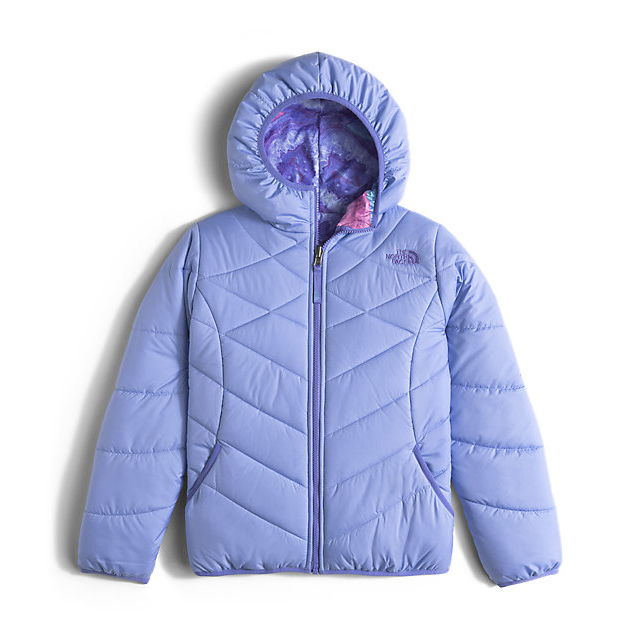 Discount NORTH FACE GIRLS' REVERSIBLE PERRITO JACKET GRAPEMIST BLUE ONLINE