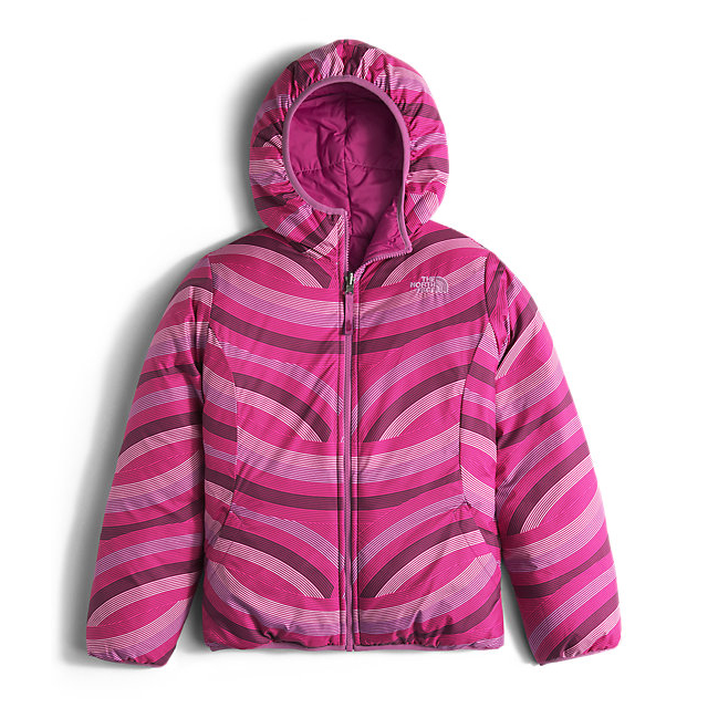 Discount NORTH FACE GIRLS\' REVERSIBLE PERRITO JACKET ROXBURY PINK ONLINE
