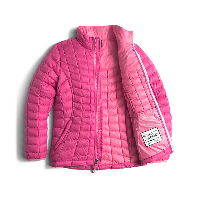 Discount NORTH FACE GIRLS\' THERMOBALL FULL ZIP JACKET CABARET PINK ONLINE