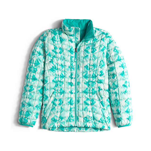 Discount NORTH FACE GIRLS' THERMOBALL FULL ZIP JACKET ICE GREEN GEO PRINT ONLINE