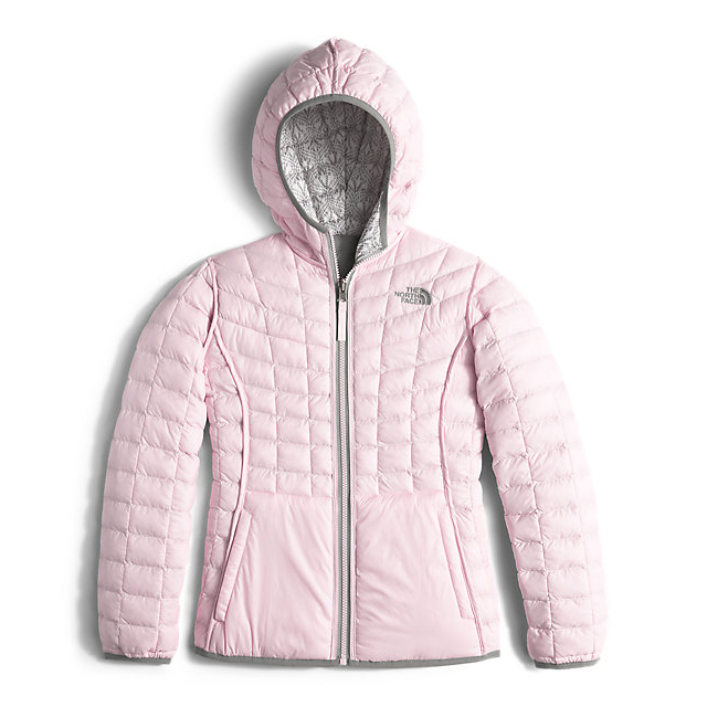 Discount NORTH FACE GIRLS\' REVERSIBLE THERMOBALL HOODIE WHITE LACE PRINT ONLINE