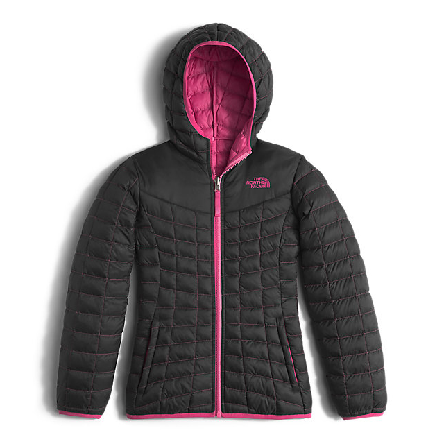 Discount NORTH FACE GIRLS\' REVERSIBLE THERMOBALL HOODIE BLACK ONLINE
