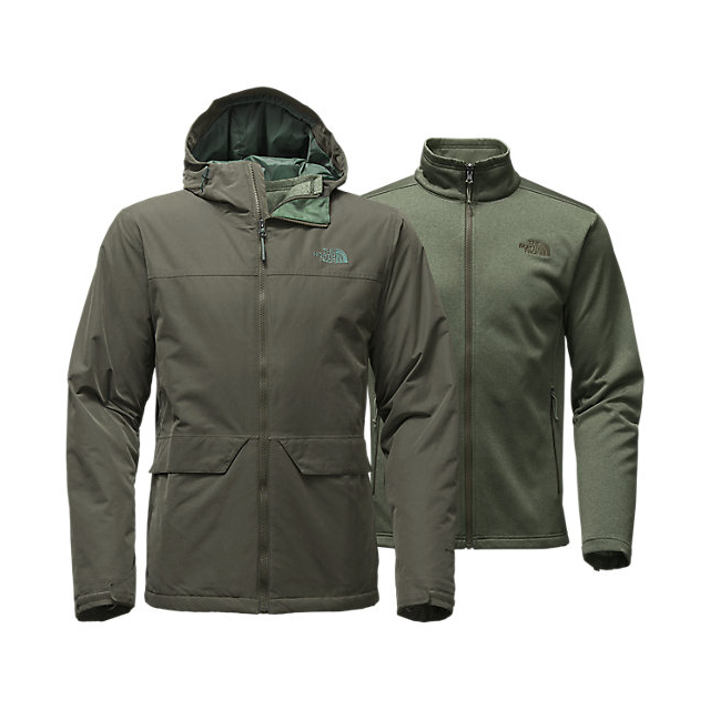 Discount NORTH FACE MEN'S CANYONLANDS TRICLIMATE  JACKET CLIMBING IVY GREEN ONLINE